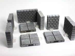 picture relating to 3d Printable Dungeon Tiles referred to as A Thingiverse Selection referred to as: DD - OpenLock Tiles 3D
