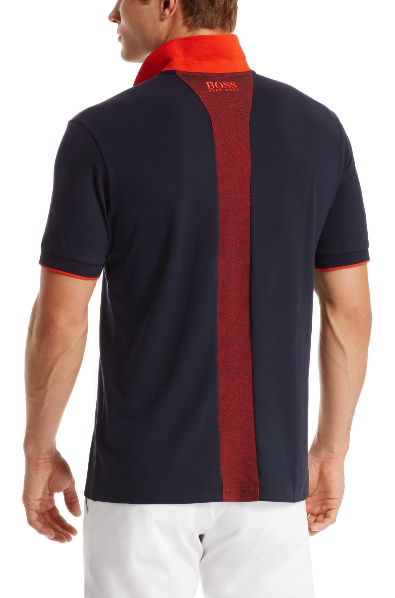 48329e352 'Paddy MK' | Modern Fit, Moisture Manager Stretch Cotton Blend Polo Shirt ,  Dark Blue
