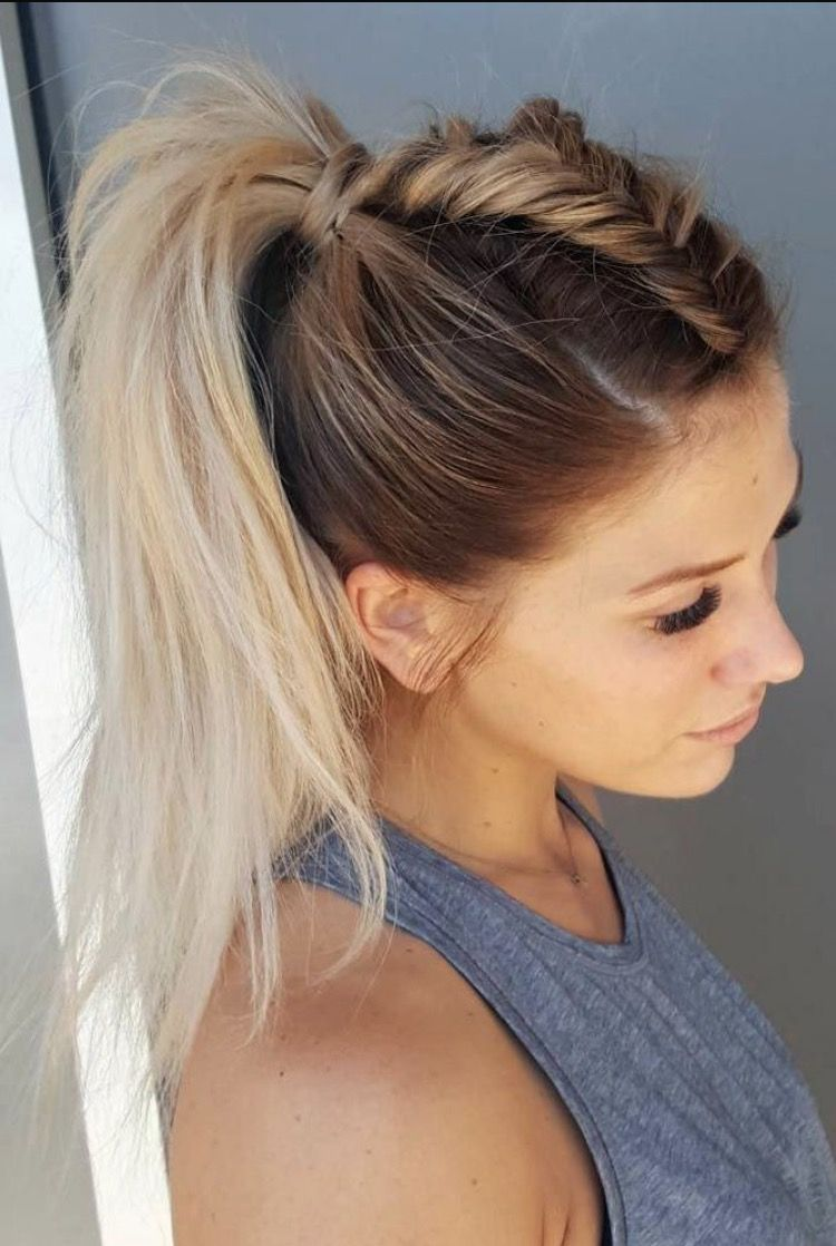 Easy Hairstyles With Braids Easy Dutch Braid Ponytail Hair And Nails  Pinterest  Braided