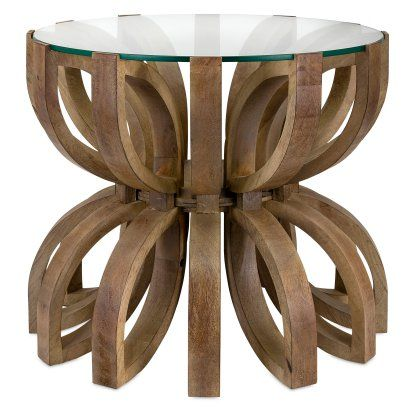Imax Lotus Wood Accent End Table End Tables At Hayneedle Wood