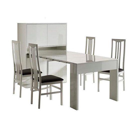 Tables - Bahut   table extensible ASTUS Blanc Mobiliers - garde meuble pas cher ile de france