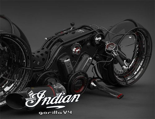 Indian Gorilla V4, fantastic motorbike, Vasilatos Ianis