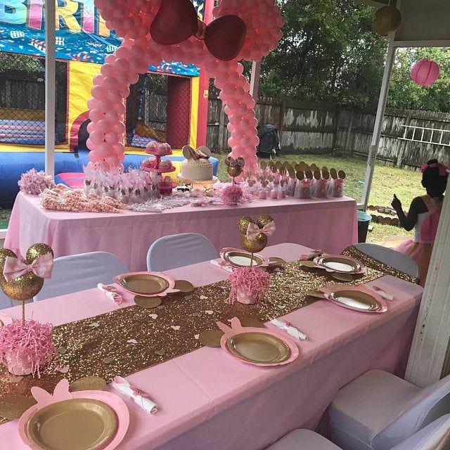 Minnie Mouse inspired centerpiece, Minnie Birthday