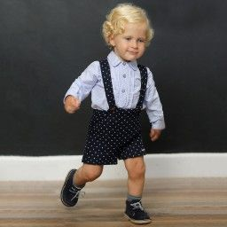 Foque - Baby Boys Blue 3 Piece Shorts Set  