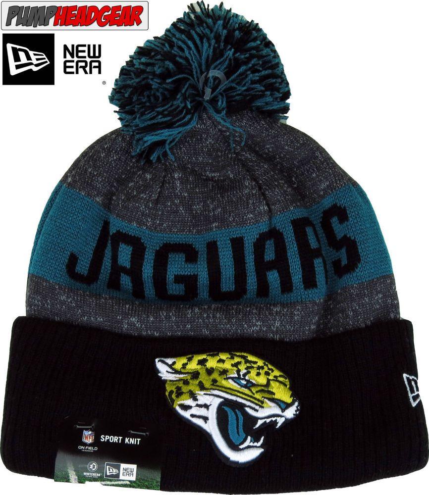 Jacksonville Jaguars New Era NFL Sideline Sport Knit Bobble Hat ... 0d2ba09f268