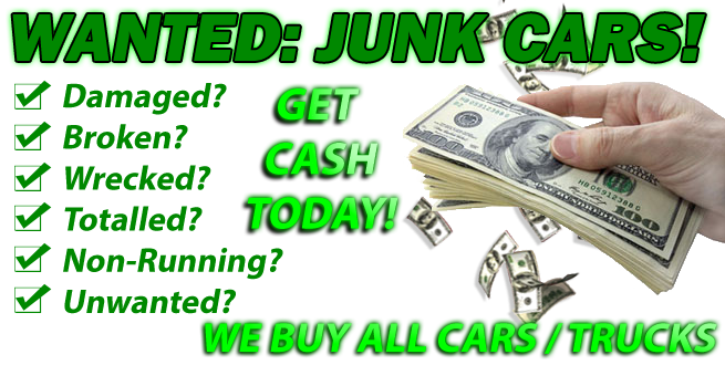 We Pay THE MOST Cash For Junk Cars. One call to 1888712