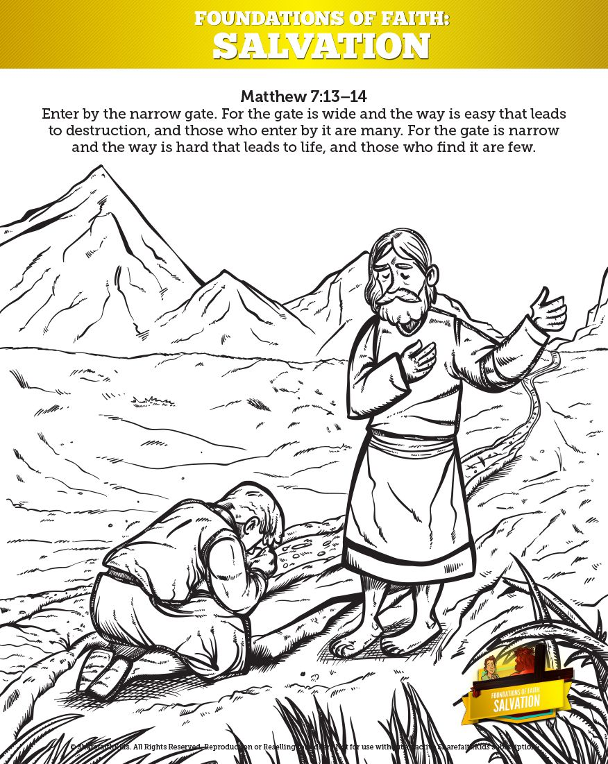 Matthew 7 Plan Of Salvation Coloring Pages For Kids Your Kids Are