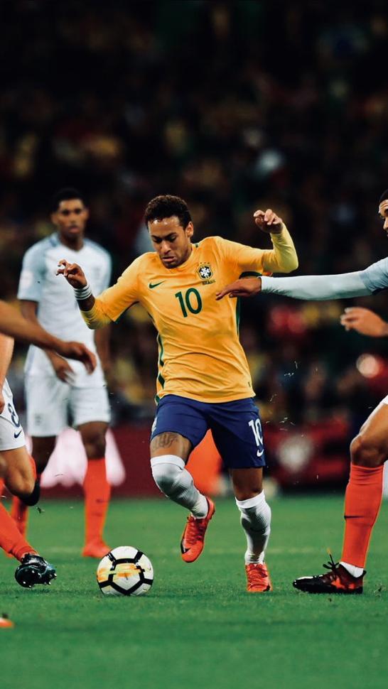 プロサッカー選手ネイマール ブラジル代表ユニフォーム壁紙