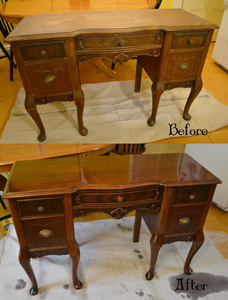 Queen Anne Desk >> My First Refinishing Project An Antique Queen Anne Desk Diy In