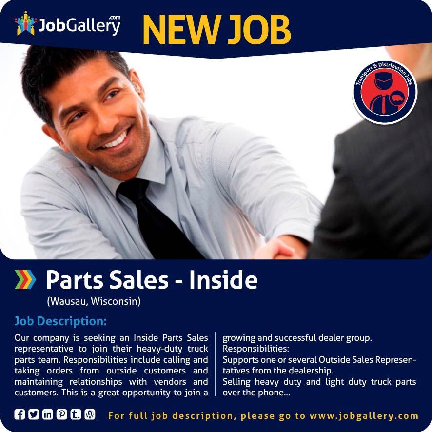 SEEKING AN INSIDE PARTS SALES REPRESENTATIVE - WAUSAU, WI #jobs
