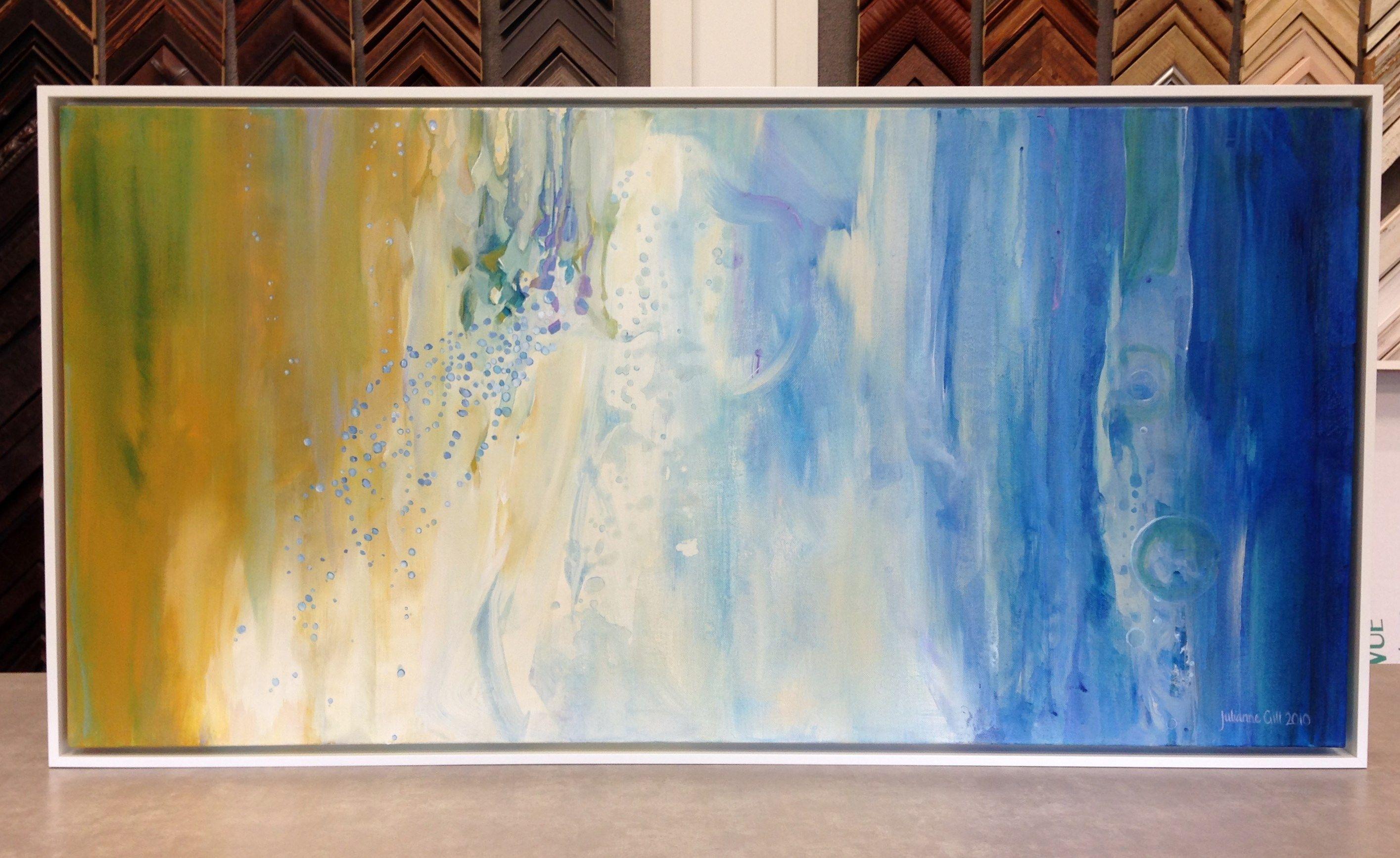 Contemporary Art By Julianne Gill Framed In A White Floater Frame By The Frame Art Co Art Contemporary Art Framed Art