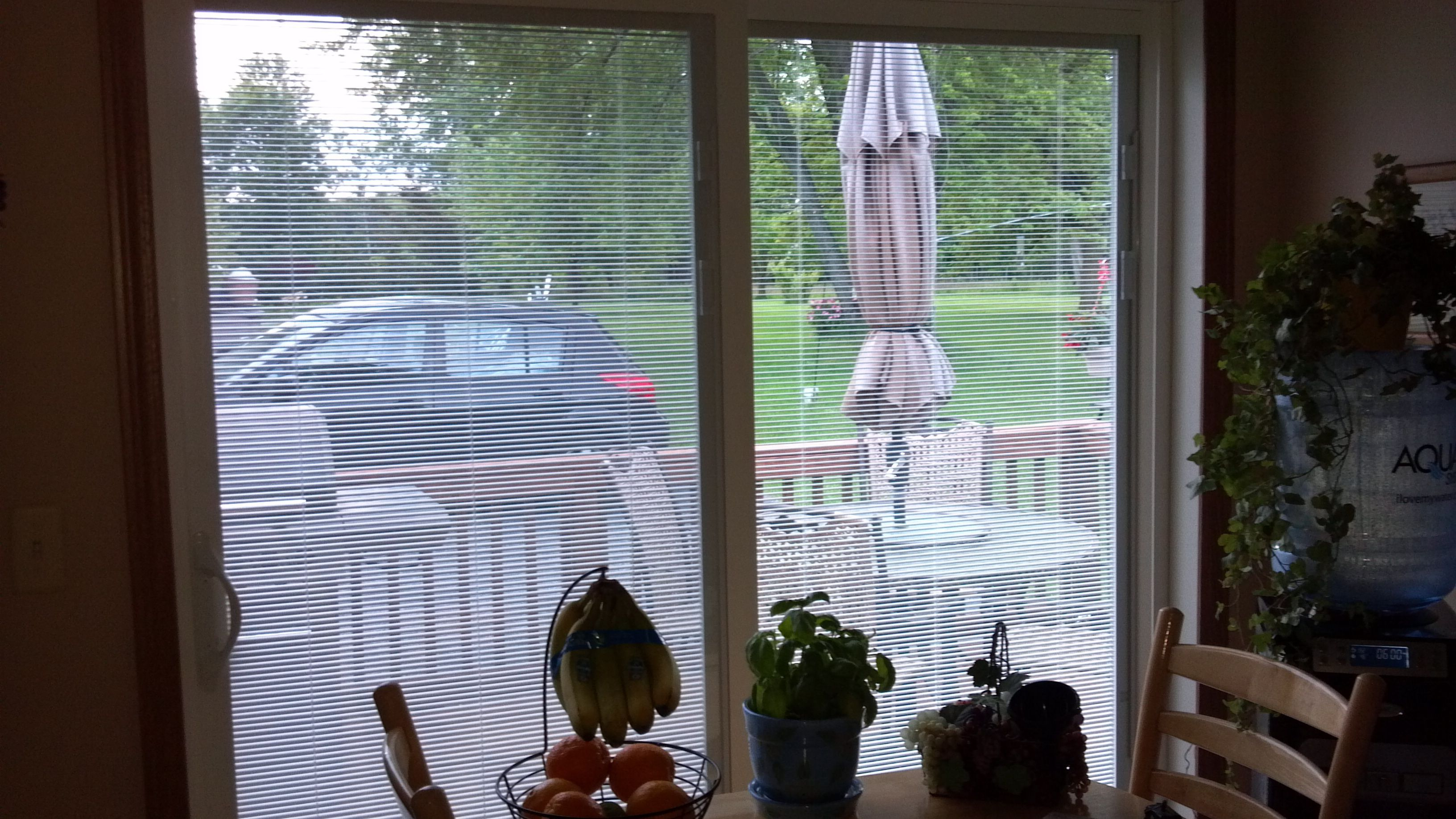 Love my new jeldwen sliding glass door with the blinds installed