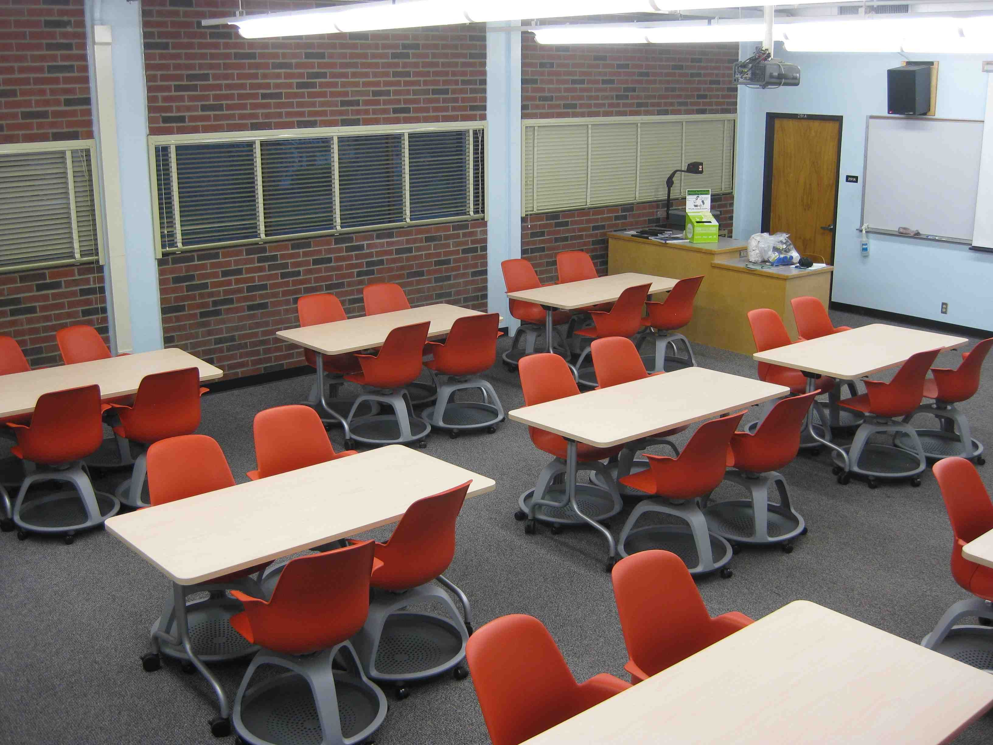 Classroom chairs stacked - Movable Tables Chairs Classroom Instruction Chico Ca State University