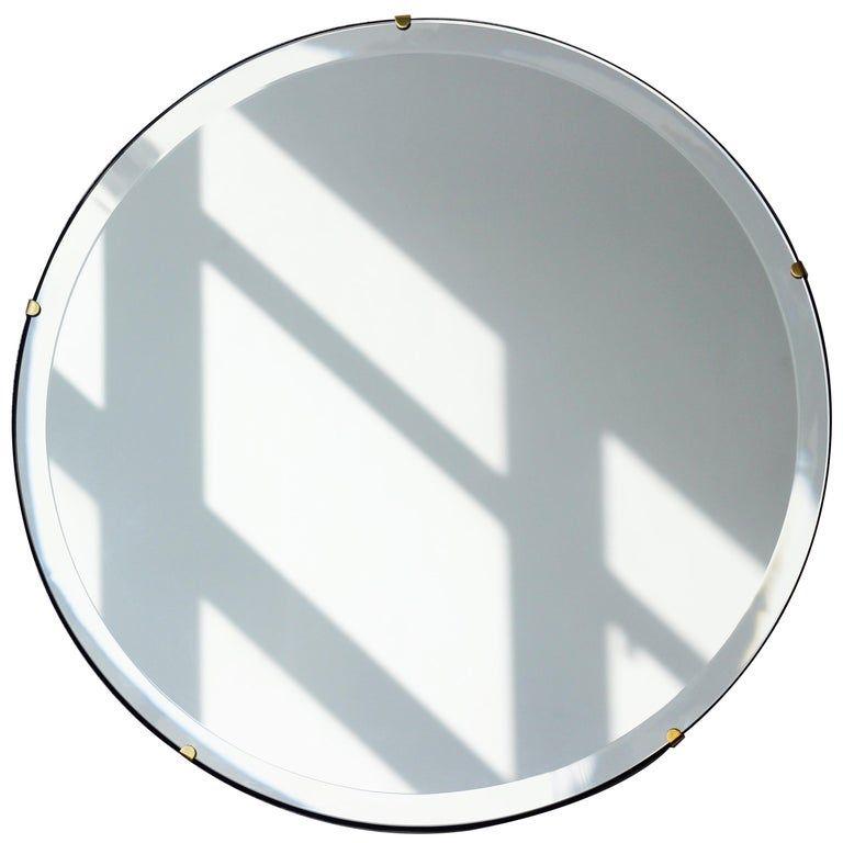 Alguacil Perkoff Ltd Wall Mirror Beveled Orbis Round