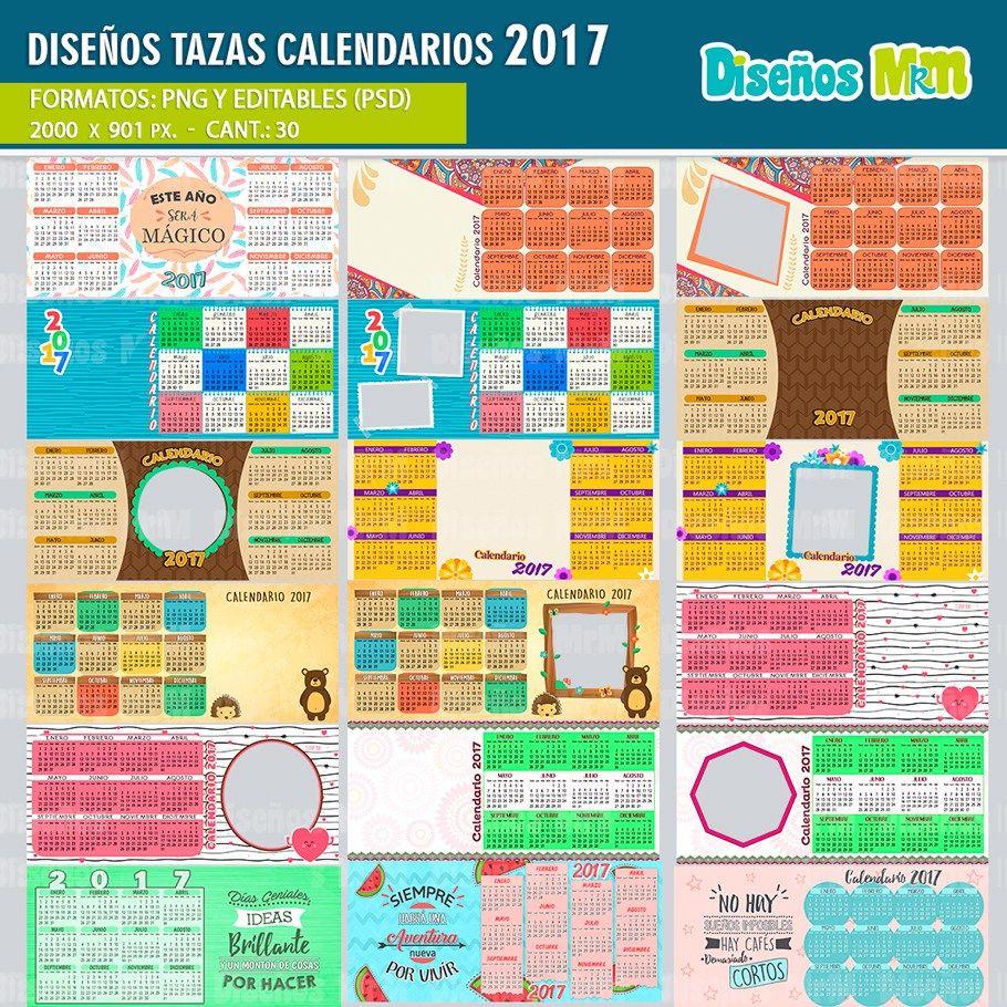 Dise o desing plantillas sublimacion calendarios 2017 - Disenos de calendarios ...