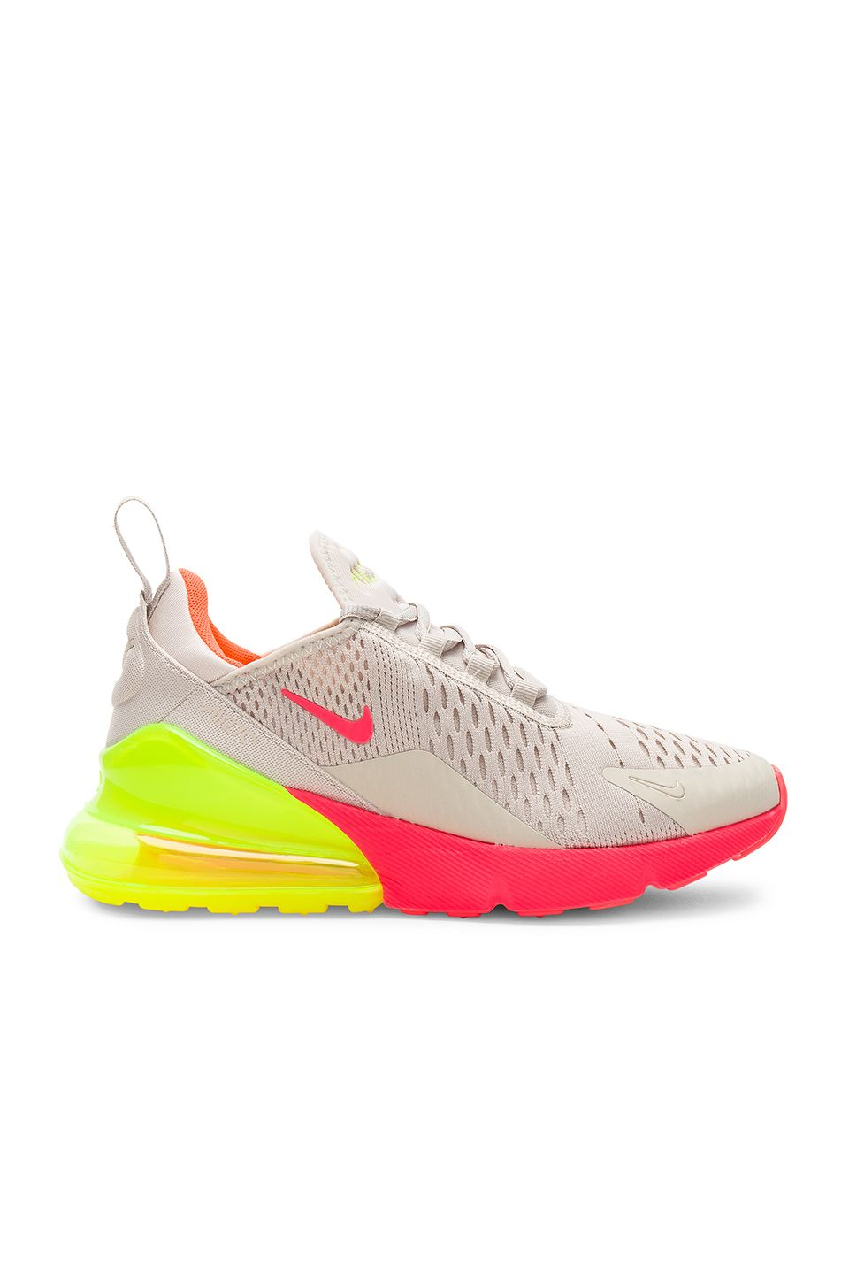 separation shoes 101d0 7fd50 Nike Air Max 270 Sneaker in Desert Sand, Hot Punch, Volt   Tot