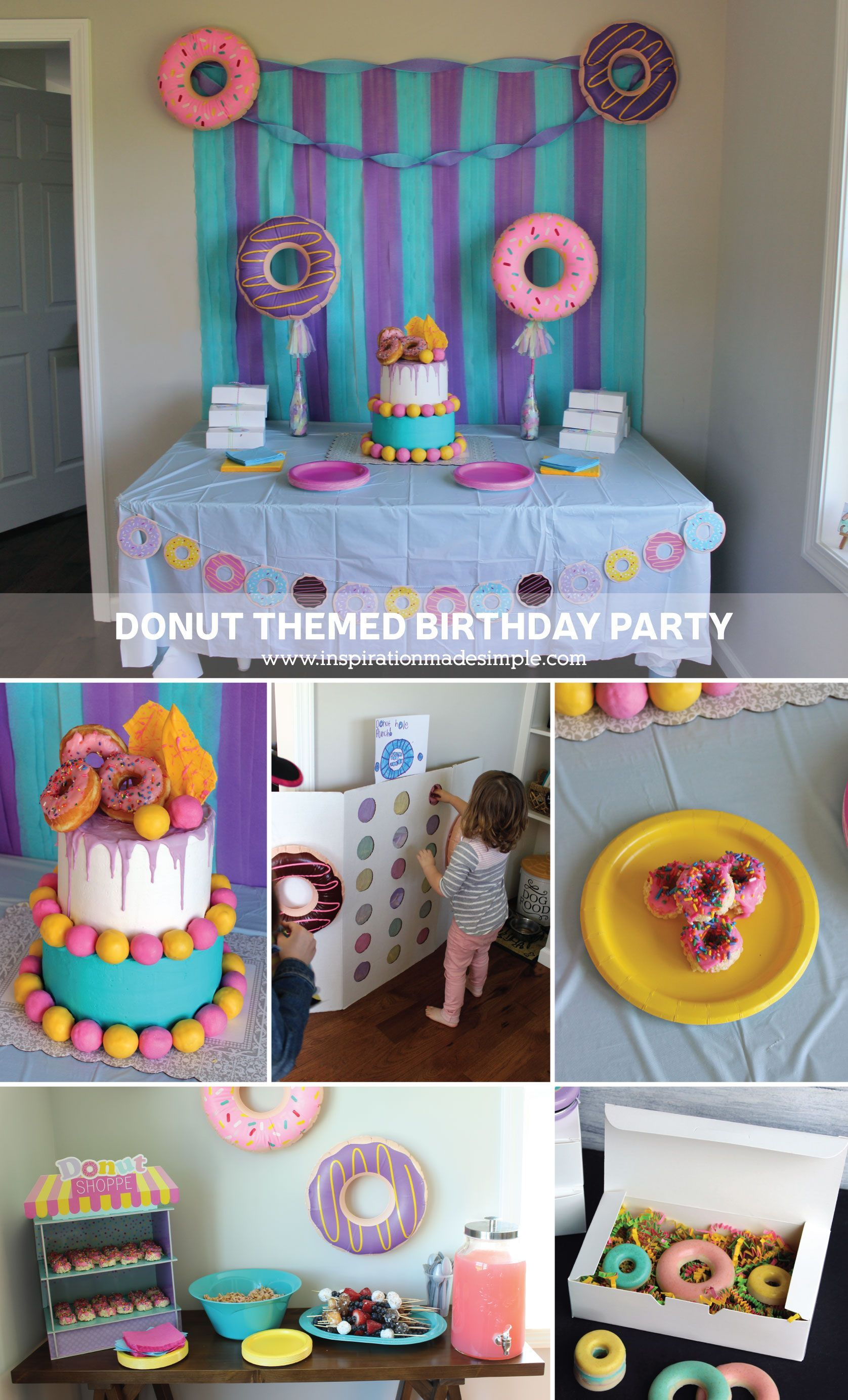 Diy Party Simple Diy Donut Themed Birthday Party Diypartythemes Diy Party