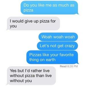 pizzzzzza via Tumblr We Heart It | Relationship goals text ...