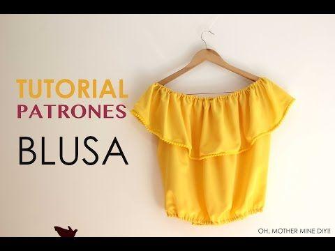 dea6d3df1 DIY Tutorial  Blusa sin hombros (patrones gratis)