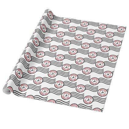 north pole express mail reindeer delivery wrap wrapping paper christmas wrappingpaper xmas diy holiday - Does Mail Get Delivered On Christmas Eve
