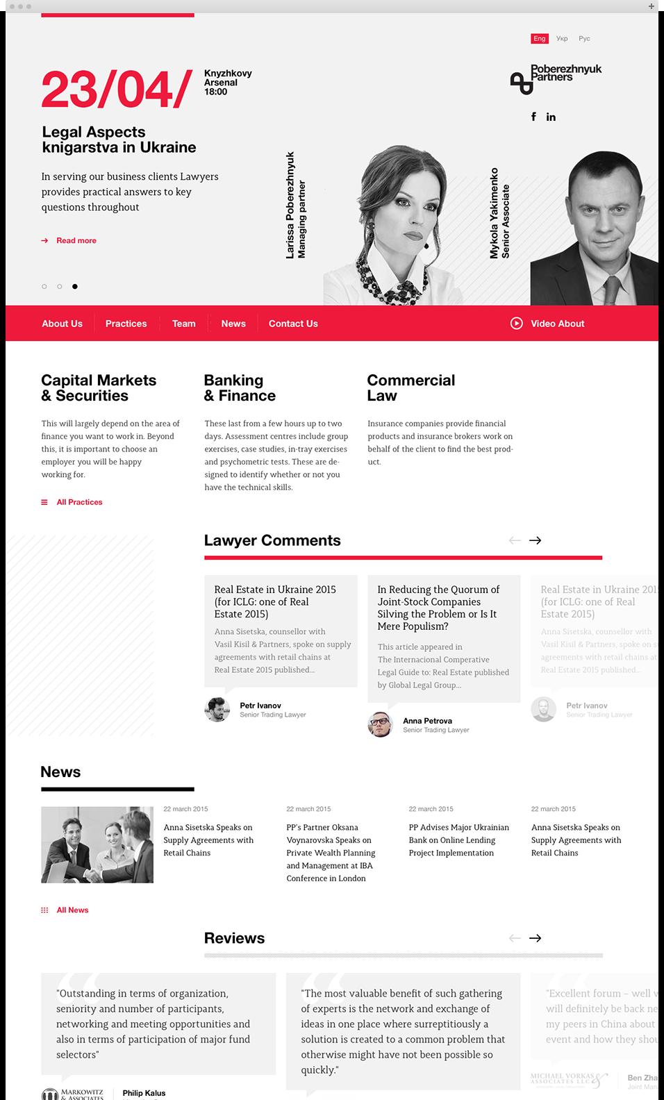Poberezhnyk Partners Web Design By Tdeser Dizajn Veb Sajtov Veb Dizajn Graficheskij Dizajn