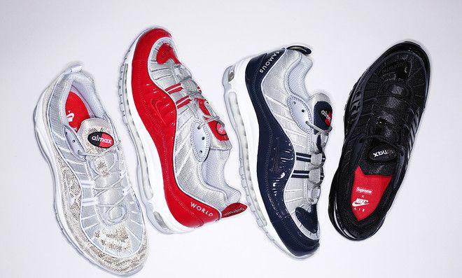 Supreme x Nike Air Max 98   C h a u s s u r e   Pinterest   Nike ... dbfeb005aaaf