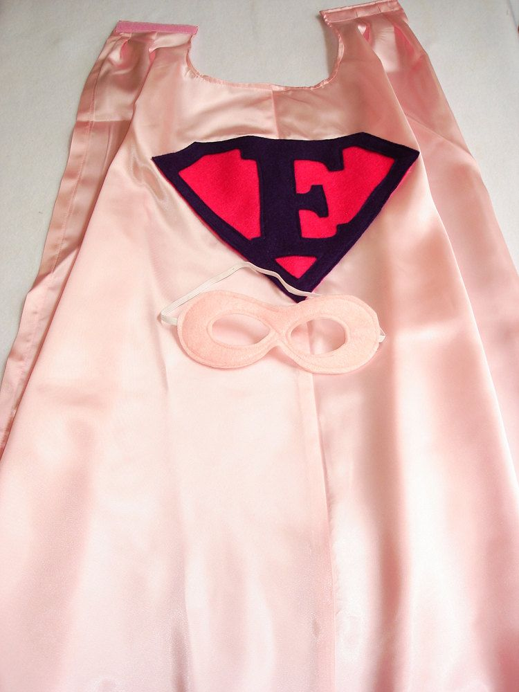 Children's Custom Superhero Personalized Kids Cape Including Matching Mask. $24.50, via Etsy.