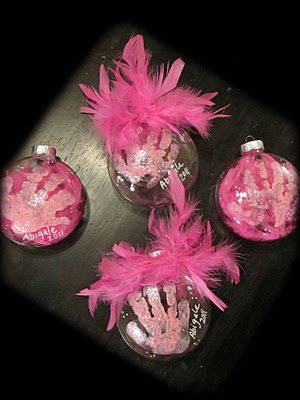Handprint Christmas Ornament Gift For Grandparents Maybe Christmas Ornaments Diy Kids Kids Christmas Ornaments Easy Christmas Ornaments