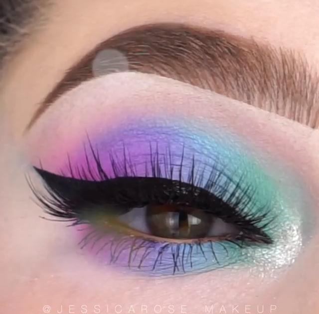 Tutoriel de maquillage des yeux bleus – La créativité na pas de limites! – #bleu #Eye #makeup #mak …