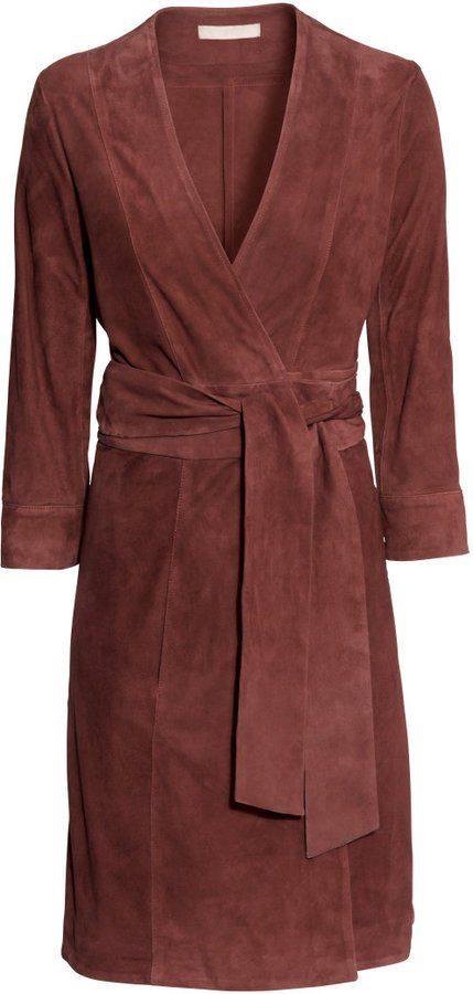 Pin for Later: 19 Reasons to Spend Your Spring in Suede H&M Wraparound Suede Dress H&M Wraparound Suede Dress ($349)