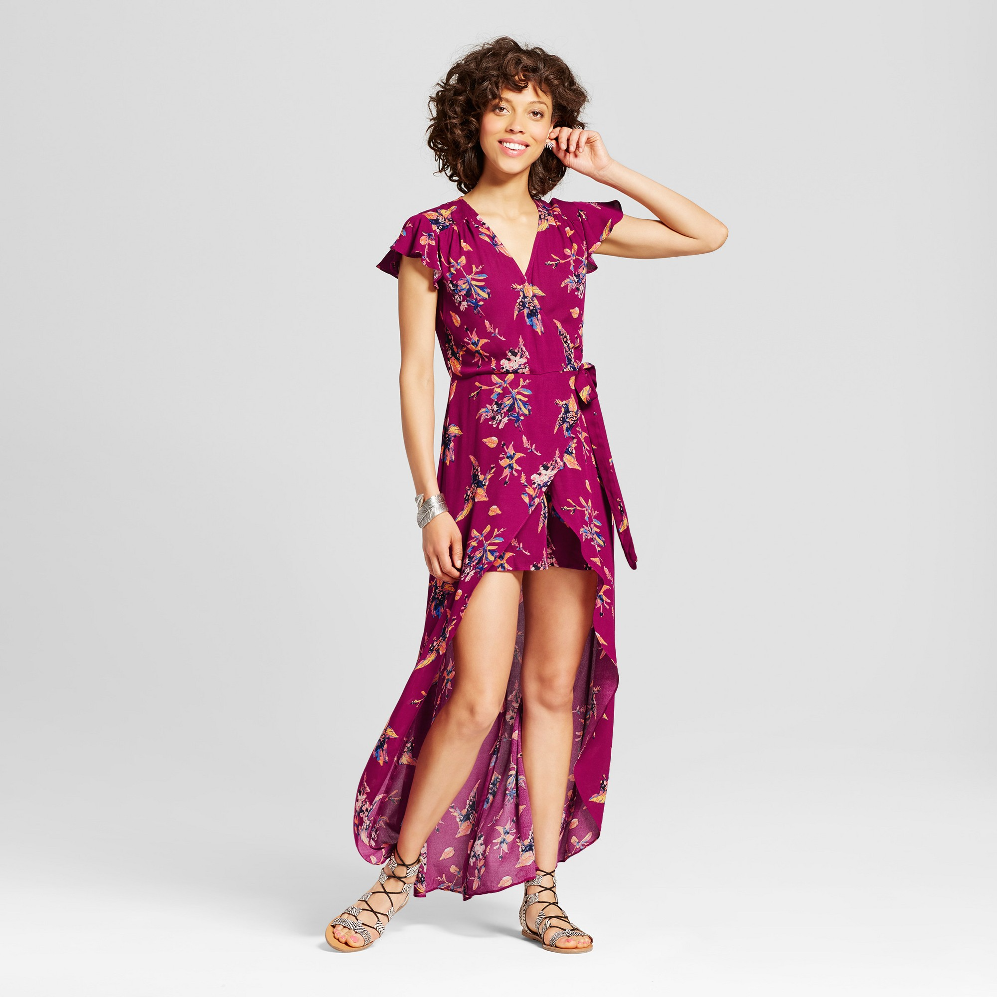2ad284ca1da Women s Walkthrough Maxi Dress - Xhilaration (Juniors ) Berry Xxl