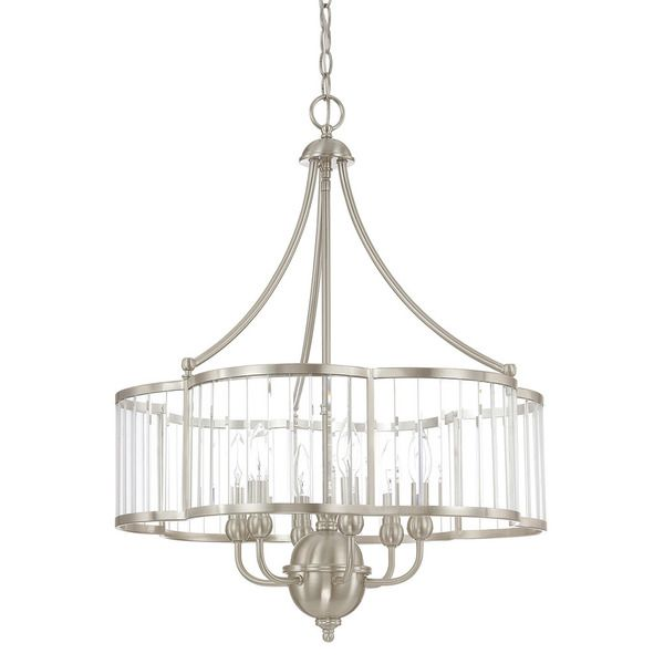 Capital lighting hamilton collection 6 light brushed nickel chandelier