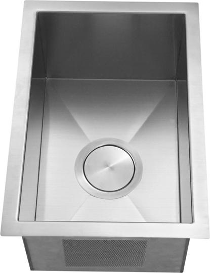 Italia 12 Undermount Stainless Steel Single Bowl Kitchen Bar Prep Sink 16 Gauge With Deep