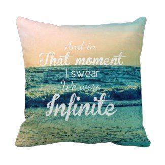 Typography Throw Pillows | Pretty Throw Pillows #infinite #beach #ocean #quote  #prettythrowpillows