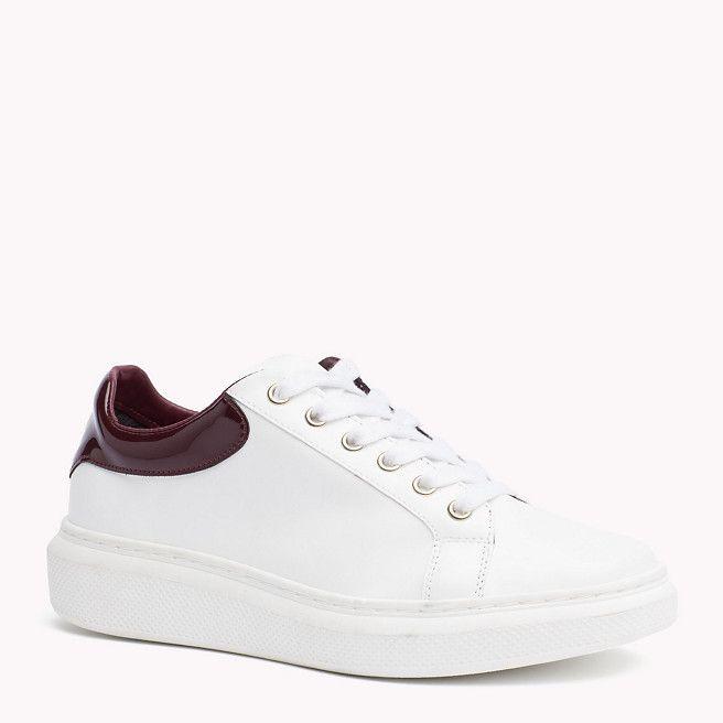 6633c7dea58 White Leather Tommy Hilfiger Sneaker