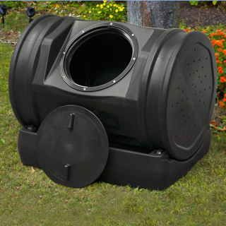 This ingenious new design is an excellent way to create soil and compost tea and then easily deliver them to your plants. The dark plastic absorbs the sun's heat, allowing your kitchen scraps, yard waste and other organic matter to quickly break down into fresh compost (humus), while all of the liquid draining off of the compost flows in to the hollow base to be stored until you pour it on your plants' roots. Composting doesn't get any easier than this: just place the EnviroTumbler on its…