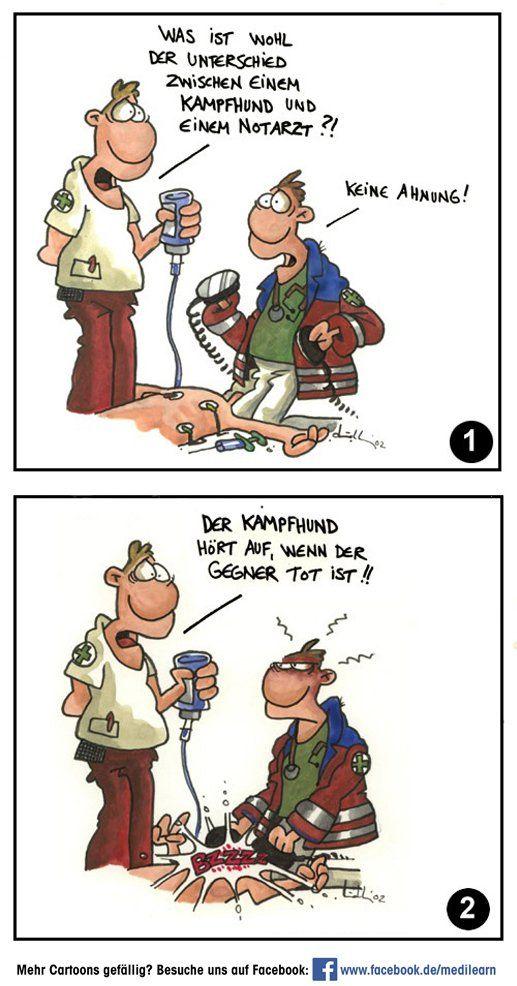 Unterschied Kampfhund - Notarzt | Funny | Pinterest | Humor, Cartoon ...