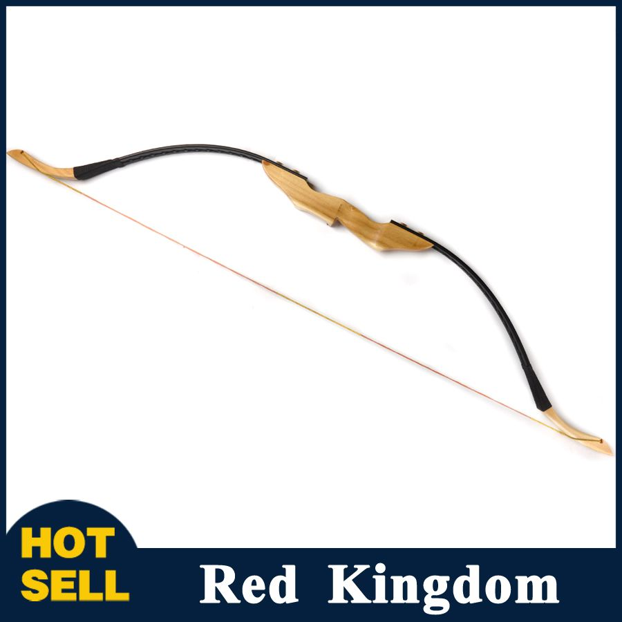 Right//Left Hand 30//40lbs Wooden Handle Mongolian Archery Recurve Bow Hunting