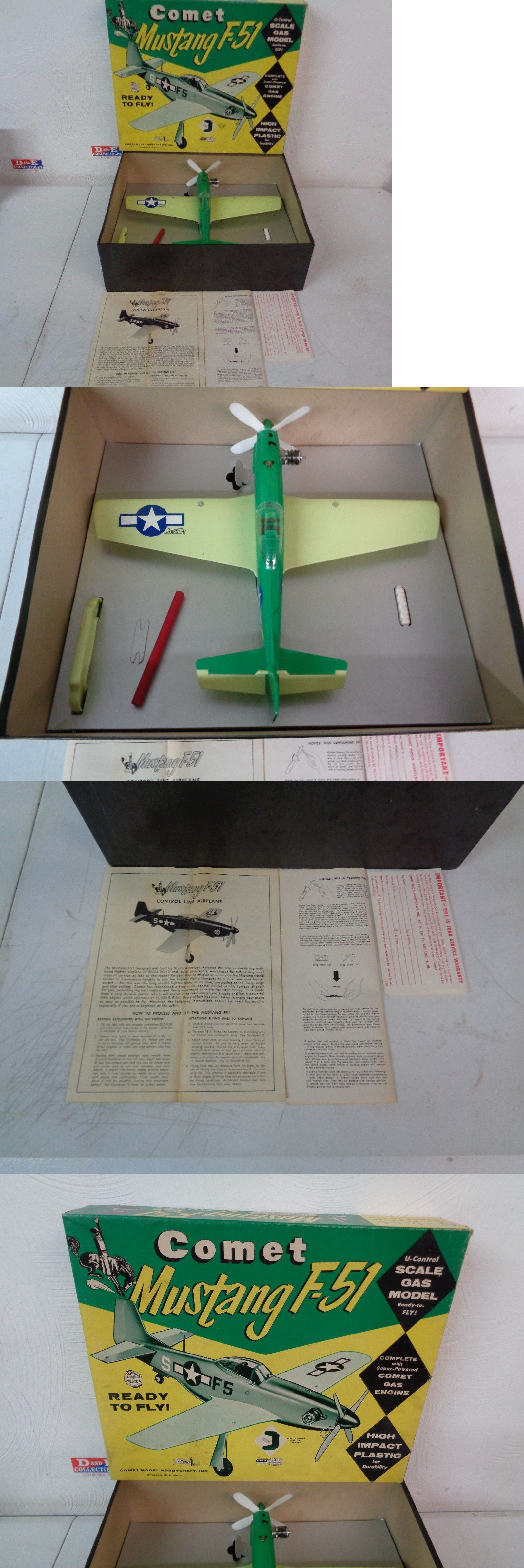 Other RC and Control Line 168248: Vintage Comet Mustang F-51
