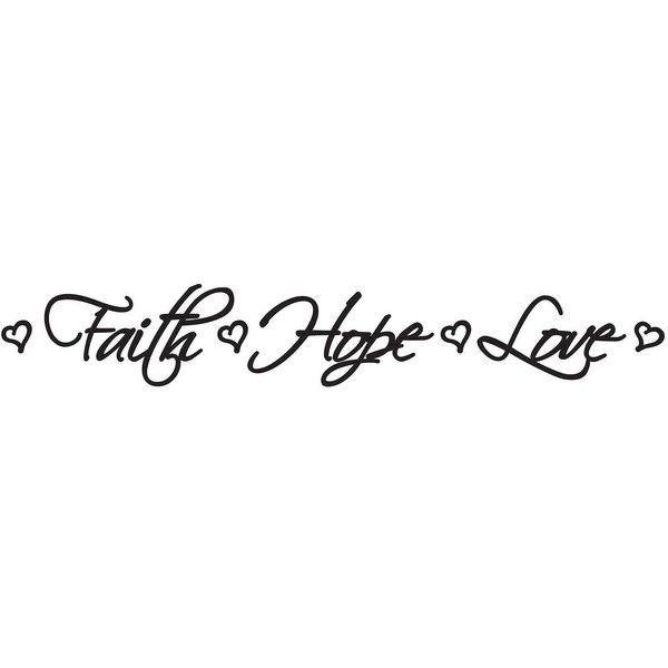 Faith Hope Love Wall Decal (290 MXN) ? liked on Polyvore featuring home  sc 1 st  Pinterest & Faith Hope Love Wall Decal (290 MXN) ? liked on Polyvore featuring ...
