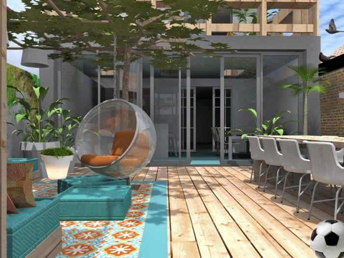 Hip mediterraan en gezellig mediterrane tuinen pinterest verandas pergolas - Ideeen kleuren lounge ...