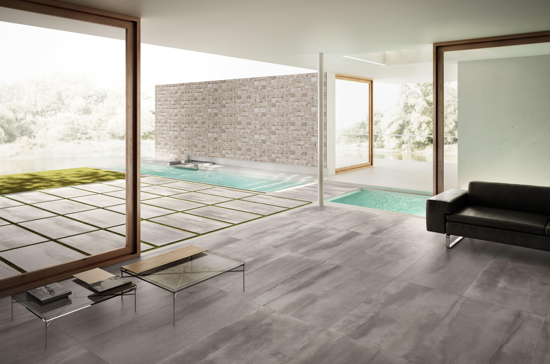 Fließender Übergang vom Wohnbereich zur Terrasse mit der Serie
