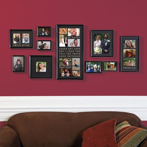 Wall Verbs 10-Piece Typography Frame Collection - Bed Bath & Beyond $39.99