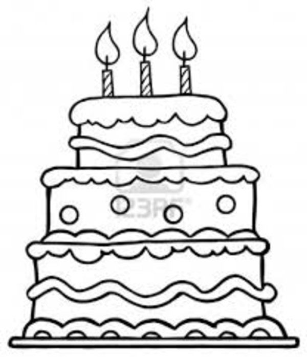 three floor birthday cake coloring pages printable for kids - Blank Birthday Cake Coloring Pages