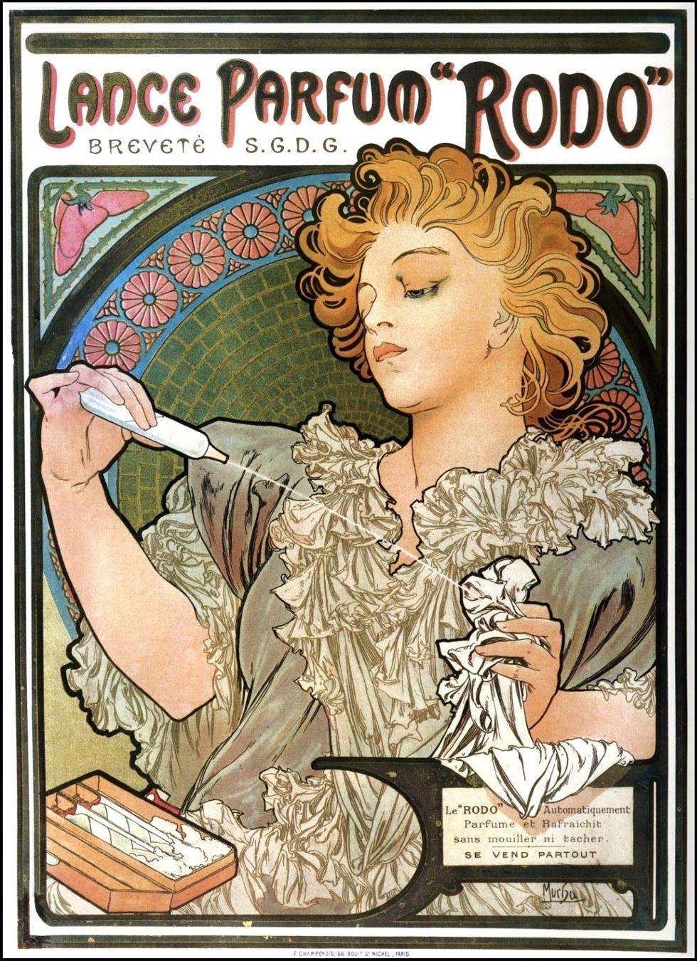 Perfume Ad Poster Illustrated By Alphonse Mucha 1896 ミュシャ