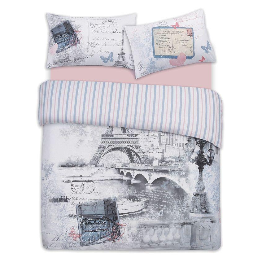 Juego de cama reversible París | Juego de cama, Conjunto de
