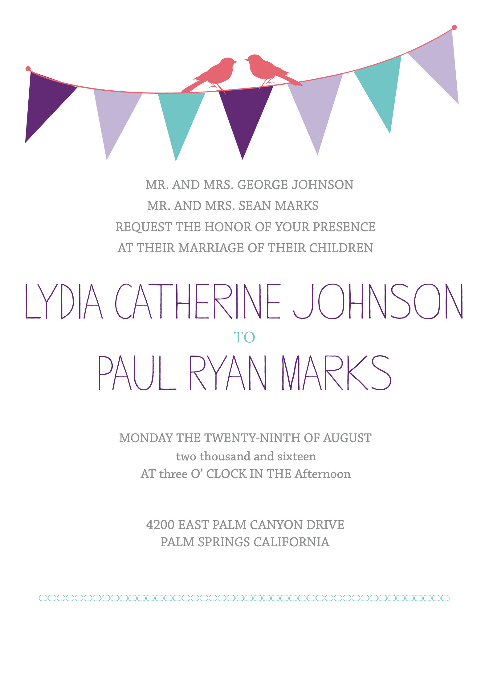 Bunting Free Printable Wedding Invitation Suite | Free printable ...