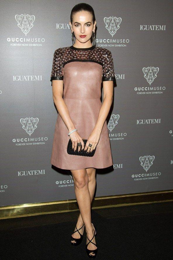 Celebrity Style - Camilla Belle - monstylepin #fashion #icon #celebrity #style #camillabelle #coktaildress #leatherdress