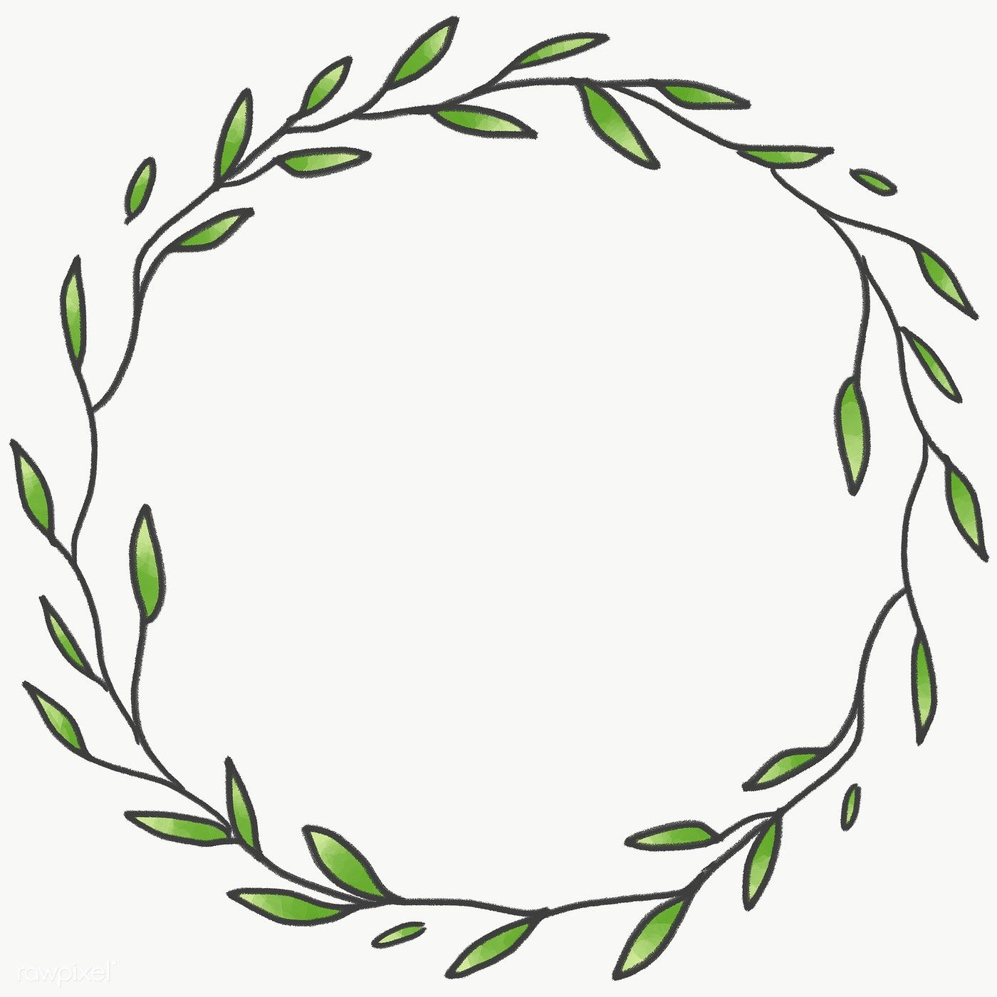 Photo of Download premium PNG from Doodle wreath frame transparent PNG 2100615