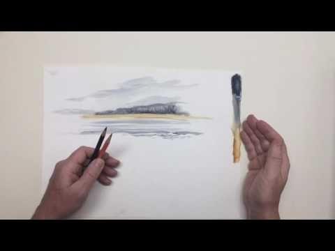 Wie Verwende Ich Aquarellstifte Youtube Aquarell Buntstifte